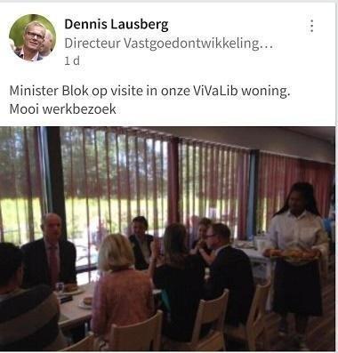 Minister Blokt bezoekt Vivalib woning Woonstad